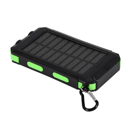 Charger Senter Cas E Light diy waterproof 10000mah power bank 2 usb solar charger with led no battery ebay