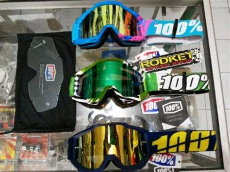 Helm Cross Kacamata kacamata helm motocross 100 dobel lens rocket mx shop