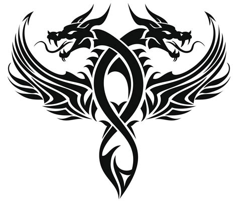 tribal dragon head tattoo sleeve ideas