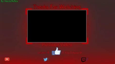 Outro Template Free Youtube Free Outro Template