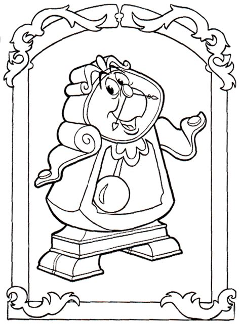 Beauty And The Beast Coloring Pages Coloringpages1001 Com And The Beast Color Pages