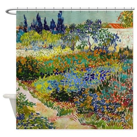 van gogh shower curtain van gogh garden at arles shower curtain by designdivagifts2