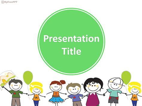 free powerpoint template children free children powerpoint