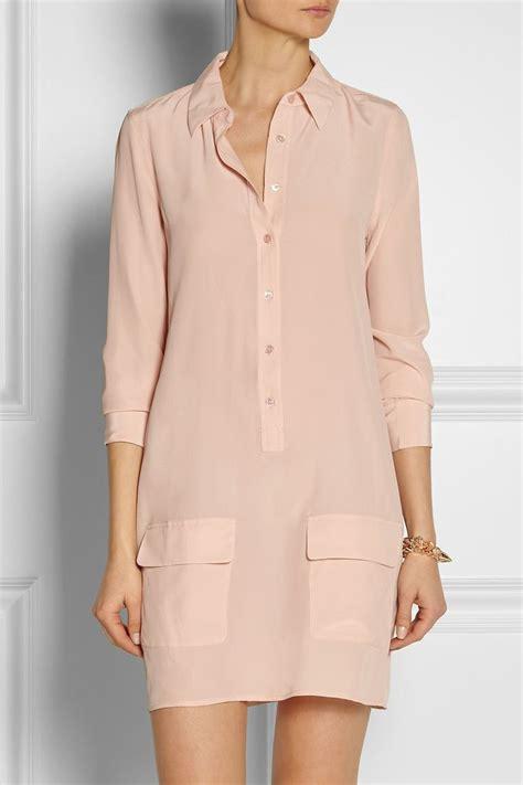 shirt dress equipment lucida washed silk shirt dress sometimes
