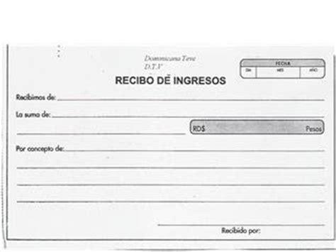 formato de recibo de dinero recibido recibo el es una constancia de pago o haber recibido