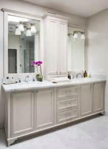 Grey Bathroom Cabinets by Light Gray Bath Vanity Cabinets Transitional Bathroom