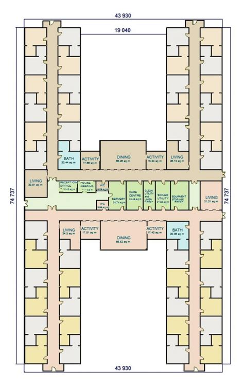 w a benbow 187 dementia design h shape facility layout