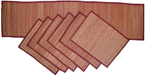 wholesale handmade set of 6 placemats and table runner from bulk suppliers from india