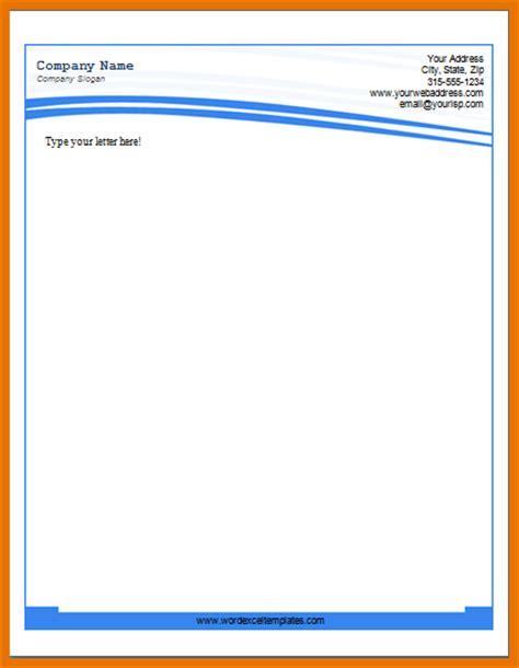 doc 770477 word company letterhead template