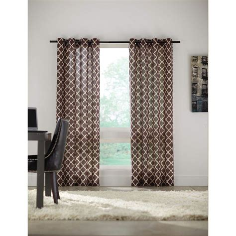 home decorators curtains home decorators collection brown grommet curtain 52 in