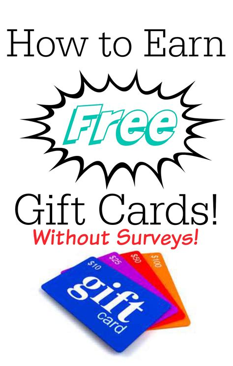 ways to earn free gift cards some of this and that - Ways To Earn Gift Cards For Free