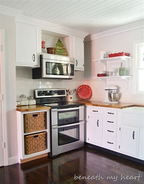 diy kitchen makeover ideas our diy the cabinet cook book holder beneath my