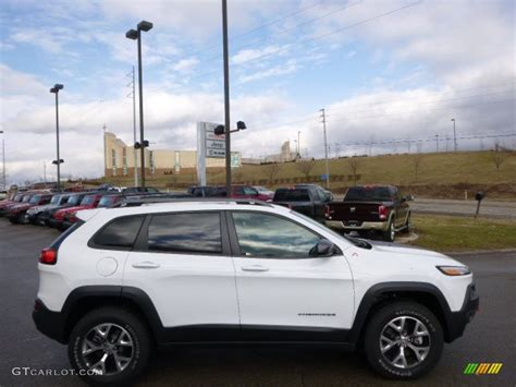 jeep trailhawk 2014 bright white 2014 jeep cherokee trailhawk 4x4 exterior