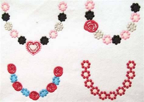 embroidery design necklace 4 types of cute necklaces machine embroidery designs for hoop