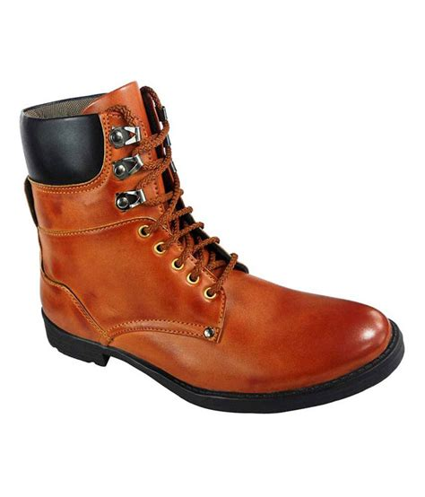 elvace synthetic leather boots price in india buy