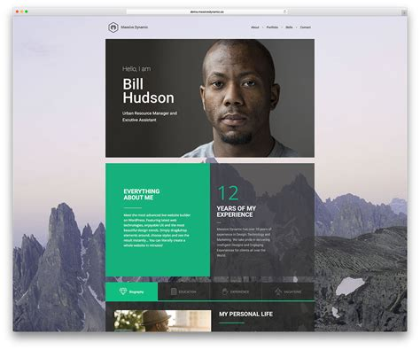 30 Best Vcard Wordpress Themes 2016 For Your Online Resume And Personal Portfolio Diskbase Professional Personal Website Templates Free