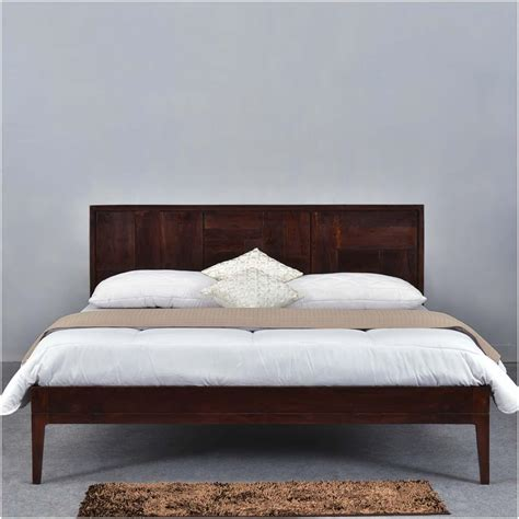 wood platform bed frame king modern pioneer solid wood platform bed frame w headboard