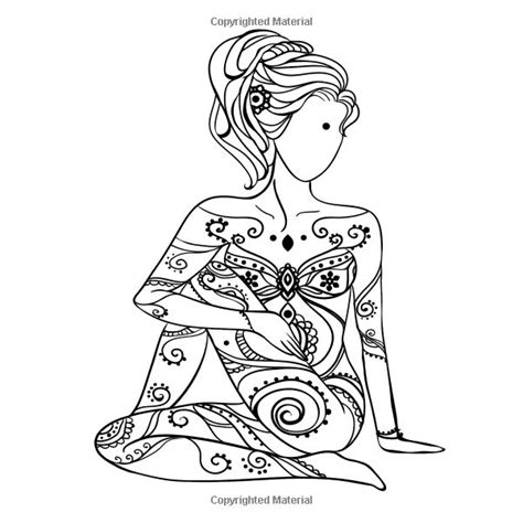 yoga coloring pages for adults 2867 best adult coloring therapy free inexpensive