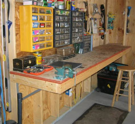 workshop bench plans workbenches for garages home decoration club