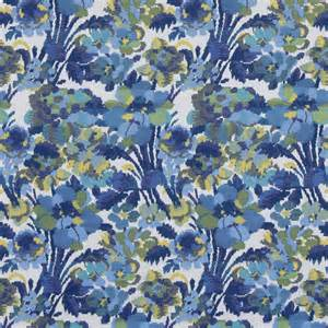blue woven floral upholstery fabric contemporary