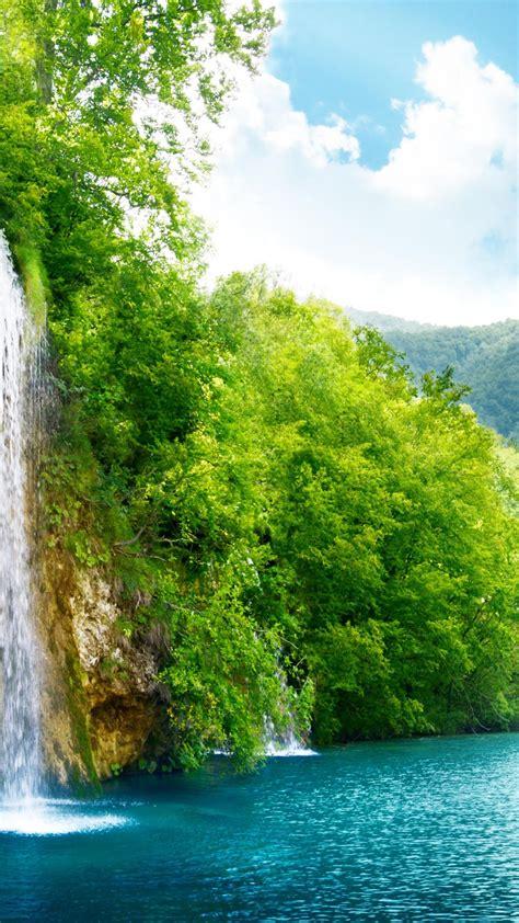 wallpaper lake  hd wallpaper sea water waterfall