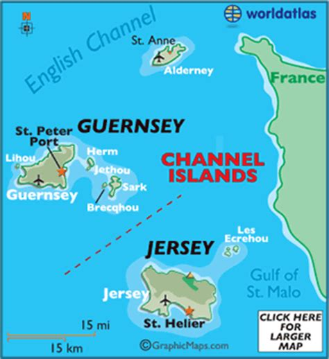 map of channel islands european maps europe maps