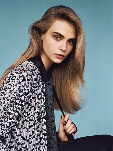 Cara Model Cara Delevingne Covers Vogue Magazine Uk January 2014