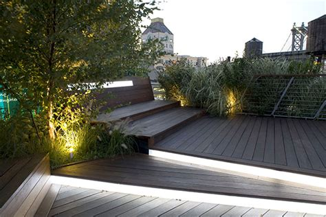 Landscape Architect York Illuminated Rooftop Terrace Is An Roofscape By