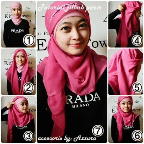 tutorial hijab paris elegant 17 cara memakai hijab segitiga simple dan mudah elegantria
