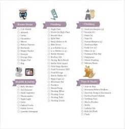 baby registry checklist template 10 free word excel