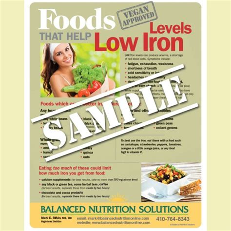 foods to help low iron levels