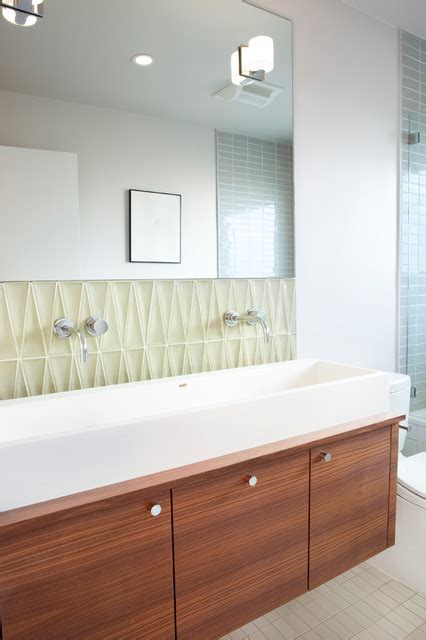Mid Century Remodel Modern Bathroom San Francisco Mid Century Modern Bathroom Tile