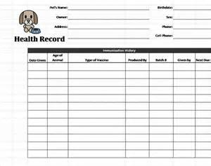 health record template pet health record template health