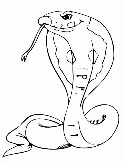 printable coloring page king cobra king cobra coloring page az coloring pages