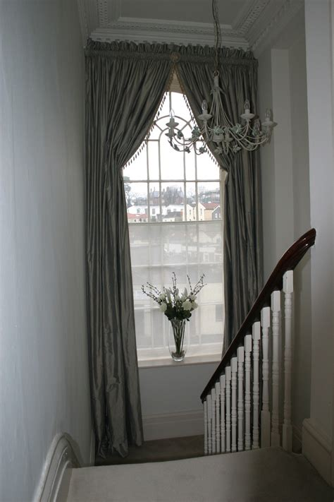 italian strung heading arched window treatments
