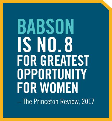 Is Babson Mba Any by Graduate At Babson Babson College