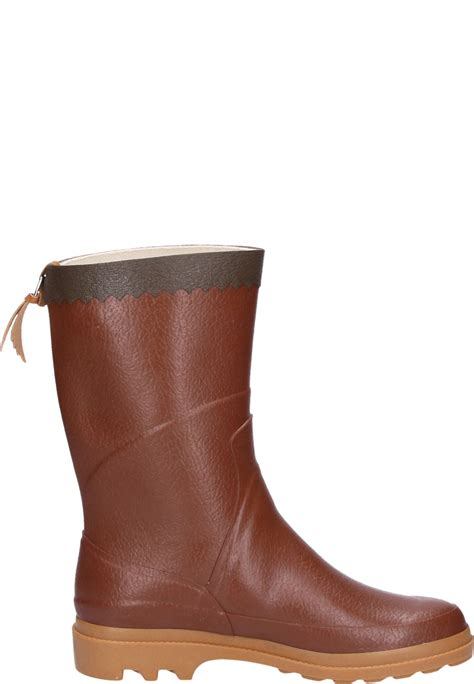 rubber boot height aigle bison ambre rubber boots a half height universal