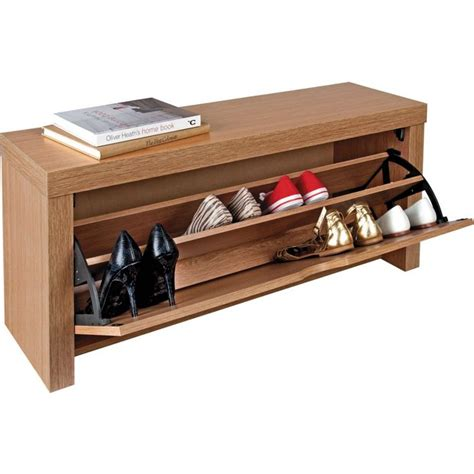 Clothes Rack Argos by Buy Home Cuban Shoe Storage Cabinet Oak Effect At Argos