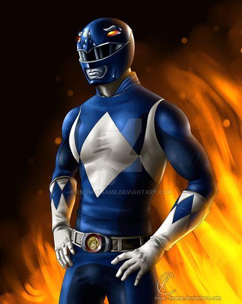 painting power rangers blue power ranger by kname on deviantart