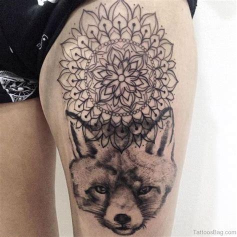 tattoo mandala fox 92 fabulous fox tattoos on thigh