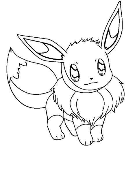 pokemon pictures of eevee coloring home