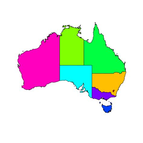 Find Australia Find The Australian States Quiz By Armadilloking