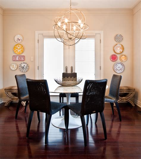 breakfast nook chandelier dining room contemporary with