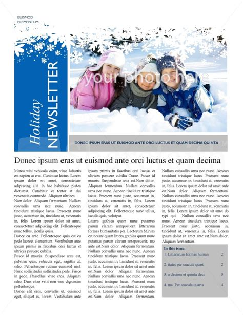 Winter Newsletter Templates winter newsletter template newsletter templates