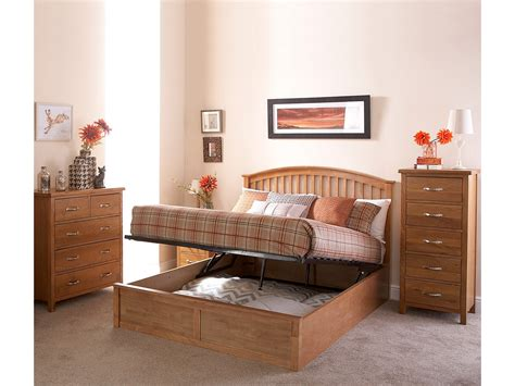 shaker style headboard madrid 4ft6 double wooden ottoman bed oak shaker style