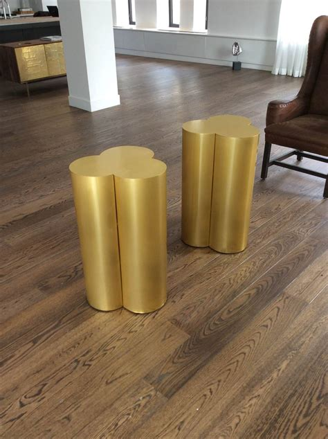 Custom Pedestals Custom Brushed Brass Cloud Table Bases Or Pedestals By