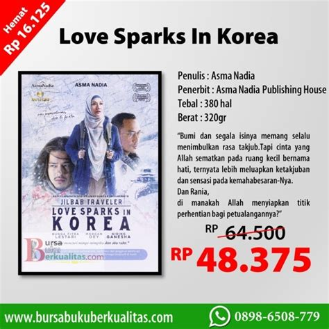 Novel Spark Korean Asma jual novel sparks in korea karya asma wa 0898 6508 779
