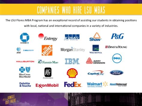Exxonmobil Mba Rotational Program by Lsu Flores Mba Program Career Services