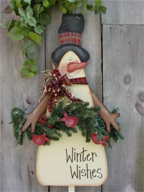 warm winter wishes snowman yard stake