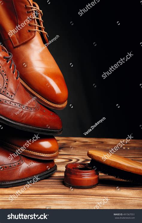 Official Winter Shoes Massimo Italiano Brown Formal Shoes Four Toes One On One Brown Stock Photo 491567551